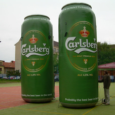 Inflatable can Carlsberg