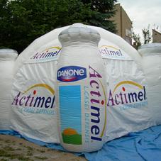 Ilmatäytteiset teltta Danone