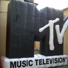 Inflatable logo MTV