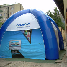 Inflatable tent Nokia