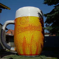 Inflatable glass Pilsner Urquell