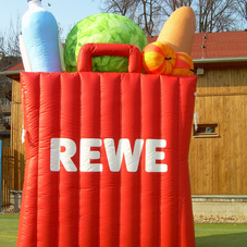 Inflatable shopping bag REWE