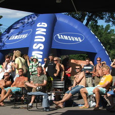 Inflatable tent Samsung