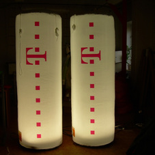 Inflatable cylinders T-Mobile