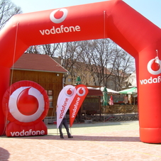 Inflatable logo Vodafone