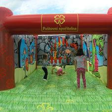 Bouncy castle Poštovní spořitelna