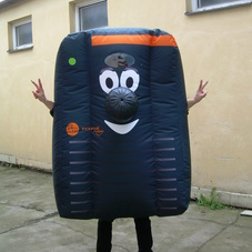 Inflatable costume remote control