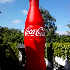 Inflatable bottle Coca Cola