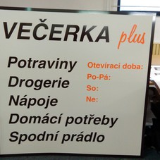 foil graphics Večerka
