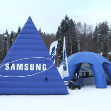 Inflatable pyramid Samsung