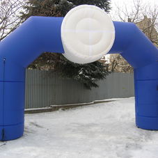Inflatable Arch with 3D cylinder