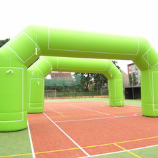 Inflatable green Arches