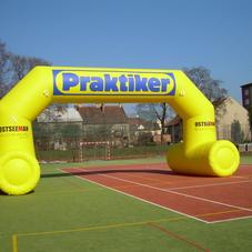 inflatable arch Praktiker