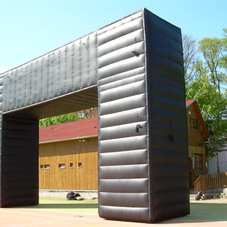 Inflatable squared arch