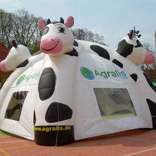 Inflatable tent cow