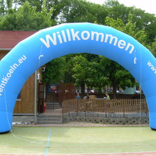Inflatable arch Willkommen