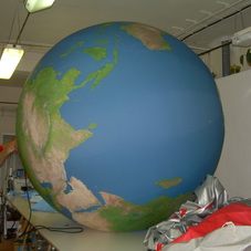 Inflatable sphere Earth
