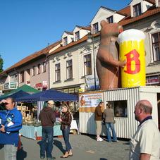 Inflatable bear Beroun brewery