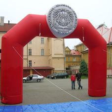 Inflatable arch Silesian University