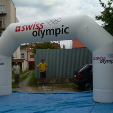 Inflatable arch Swiss Olympic