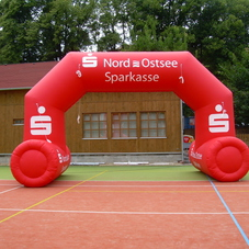 Inflatable arch Sparkasse