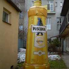 Inflatable bottle Puschkin