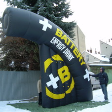 Inflatable halfarch Battery