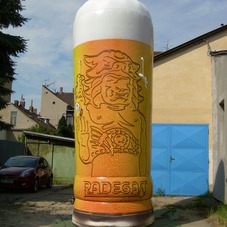 Inflatable glass Radegast