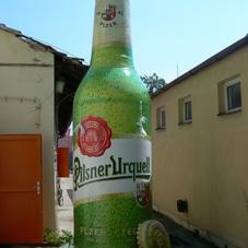 Aufblasbare flasche Pilsner Urquell