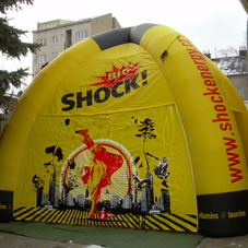 Inflatable tent Shock