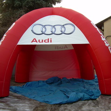 Inflatable tent Audi