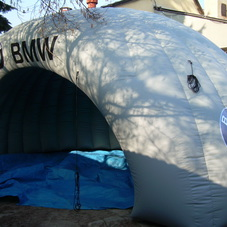 Inflatable tent BMW