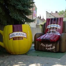 Inflatable chair and cup Jihlavanka