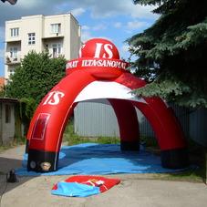 Inflatable tent Ilta Sanomat