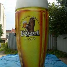 Inflatable glass Kozel