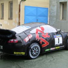 Inflatable car Porsche