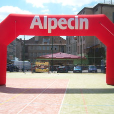 Inflatable arch Alpecin