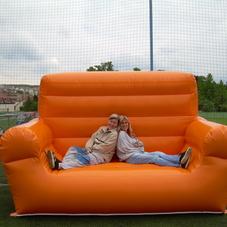 Inflatable sofa orange
