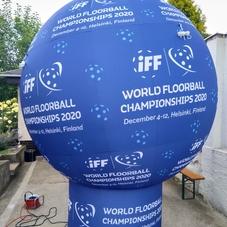Inflatable floorball ball IFF