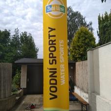 Yellow bath inflatable cylinder