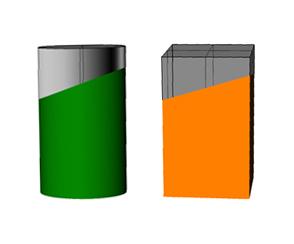Zylinder und Quader