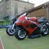Inflatable motorcycles Suzuki
