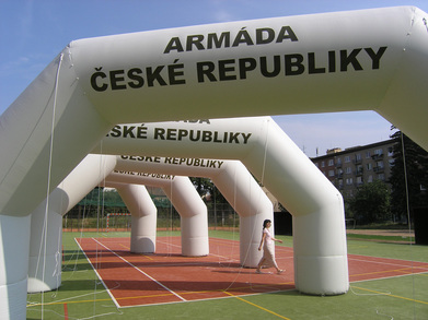 Inflatable arches Army of Czech republic