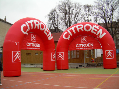 Inflatable arch Citroën