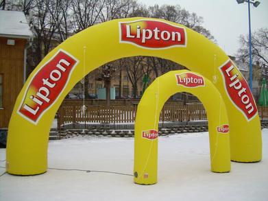Infllatable arches Lipton