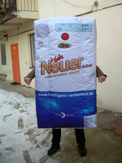 Inflatable costume termostat