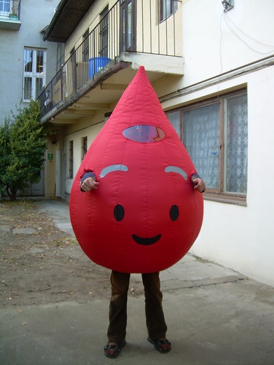 Inflatable costume drop