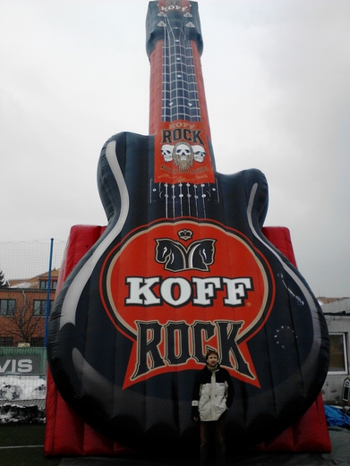 Inflatable guitar KOFF