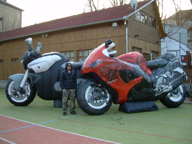 Inflatable motorcycles Suzuki