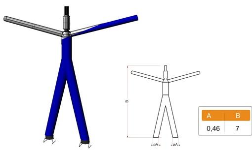 Two-legged skydancer